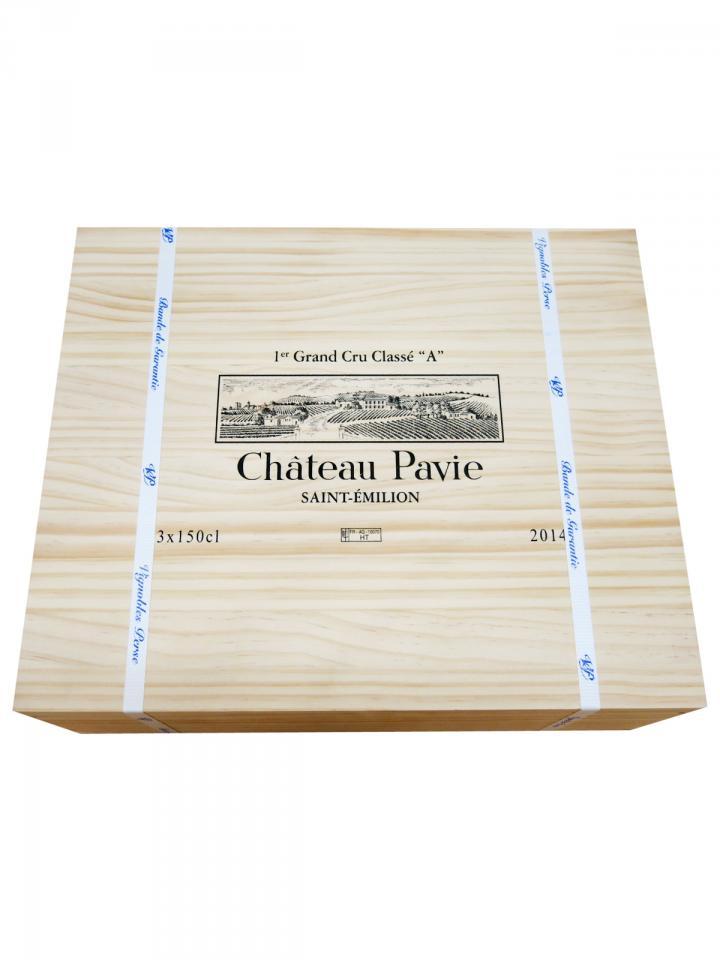 Château Pavie 2014 Original wooden case of 3 magnums (3x150cl)
