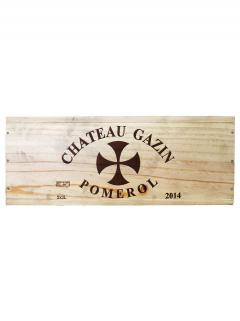 Château Gazin 2014 Original wooden case of 3 double magnums (3x300cl)