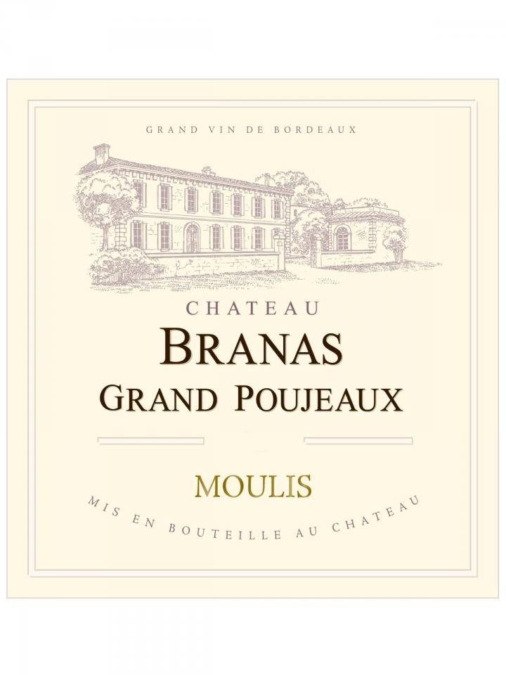Château Branas Grand Poujeaux 2012 Original wooden case of 6 bottles (6x75cl)