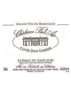 Château Bel Air Cuvée Jean Gabriel 2015 6 bottles (6x75cl)