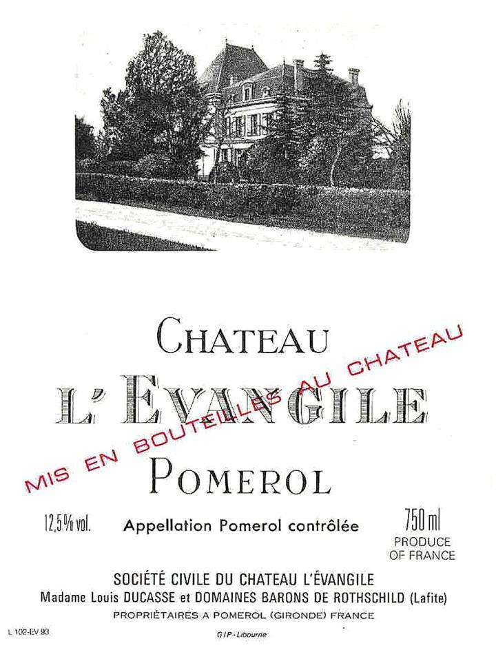 Château l'Evangile 2015 Original wooden case of 6 bottles (6x75cl)