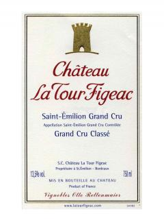 Château La Tour Figeac 2015 Original wooden case of 6 bottles (6x75cl)