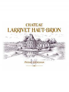 Château Larrivet Haut-brion 2014 Original wooden case of 12 bottles (12x75cl)