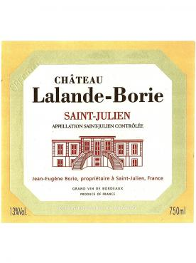 Château Lalande-Borie 2015 Original wooden case of 12 bottles (12x75cl)