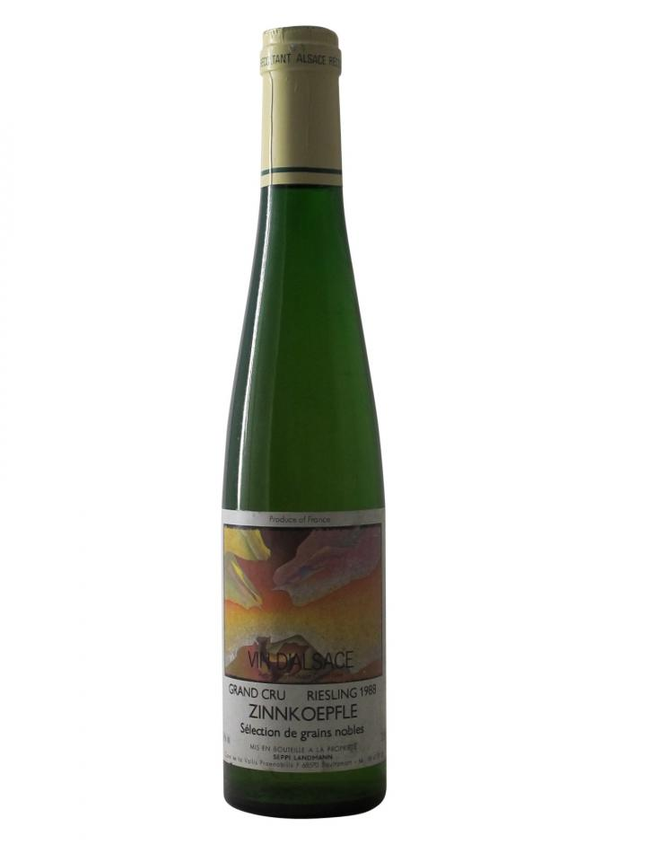 Riesling Grand Cru Zinnkoepfle Sélection de Grains Nobles Seppi Landmann 1988 Half bottle (37.5cl)