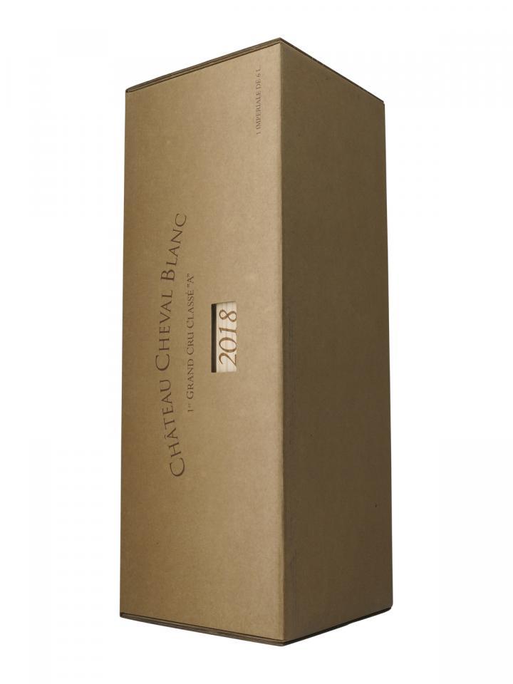 Château Cheval Blanc 2018 Original wooden case of one impériale (1x600cl)