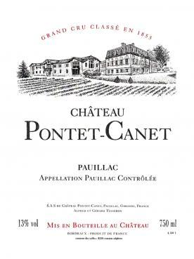 Château Pontet-Canet 2015 Original wooden case of 12 bottles (12x75cl)