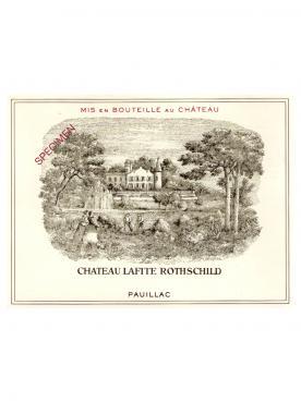 Château Lafite Rothschild 1996 Original wooden case of 12 bottles (12x75cl)