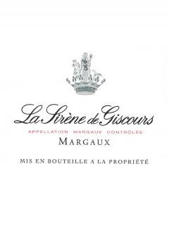 La Sirène de Giscours 2015 Original wooden case of 12 bottles (12x75cl)