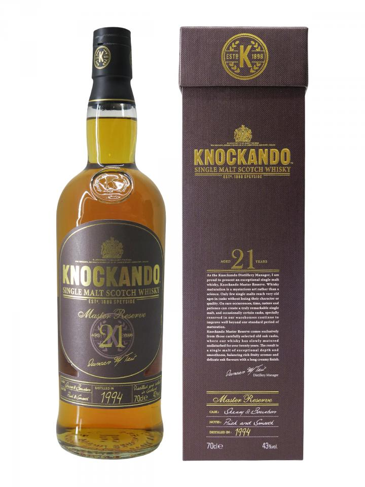 Whisky Knockando Aged 21 Years Knockando Distillery Non vintage Bottle (70cl)