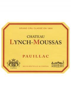 Château Lynch-Moussas 2015 Original wooden case of 6 bottles (6x75cl)