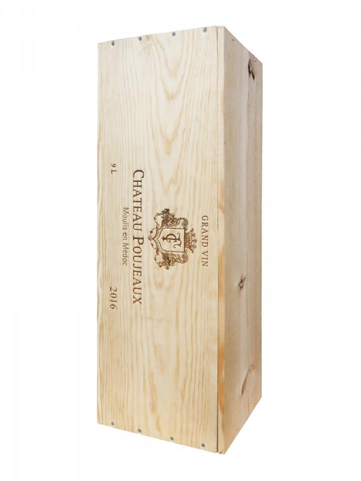 Château Poujeaux 2016 Original wooden case of one salmanazar (1x900cl)