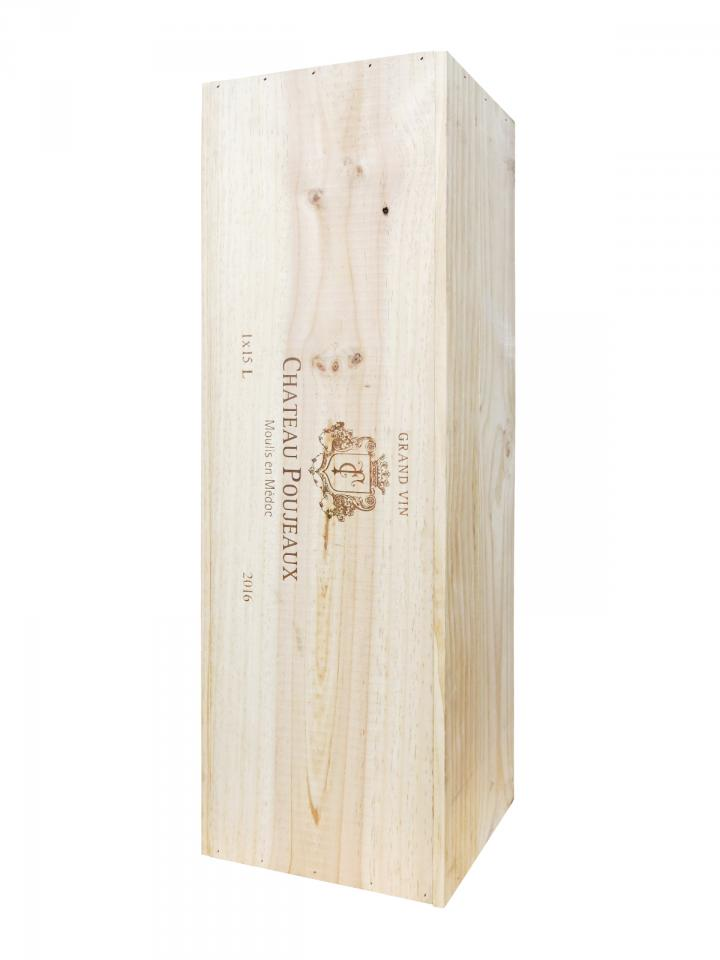 Château Poujeaux 2016 Original wooden case of one nabuchodonosor (1x1500cl)