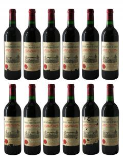 Château Grand Corbin-Despagne 1990 Original wooden case of 12 bottles (12x75cl)