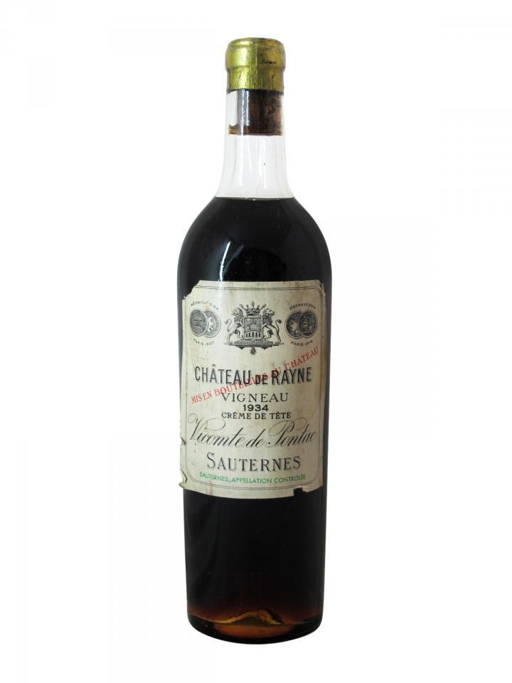 Château de Rayne Vigneau Crème de Tête 1934 Bottle (75cl)