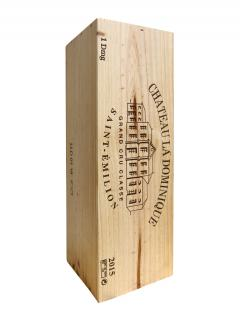 Château La Dominique 2015 Original wooden case of one double magnum (1x300cl)