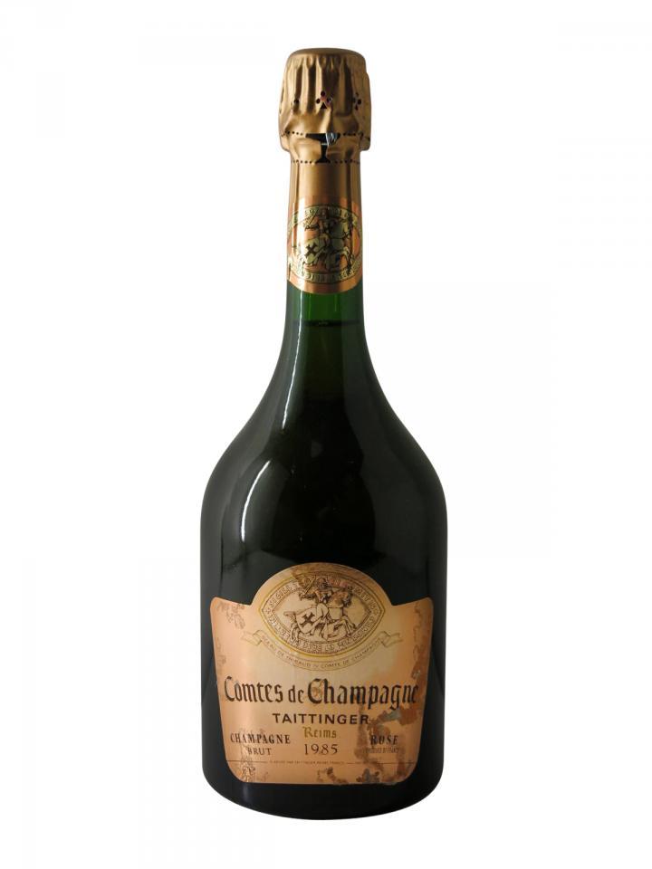 Champagne Taittinger Comtes de Champagne Rosé Brut 1985 Bottle (75cl)