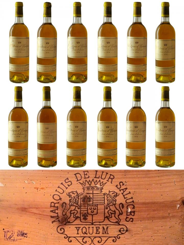 Château d'Yquem 1976 Original wooden case of 12 bottles (12x75cl)