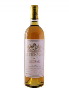 Cru d'Arche Pugneau Trie Exceptionnelle 2001 Bottle (75cl)
