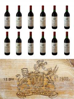 Château Montrose 1989 Original wooden case of 12 bottles (12x75cl)