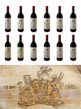 Château Montrose 1989 Original wooden case of 12 bottles (12x75cl)