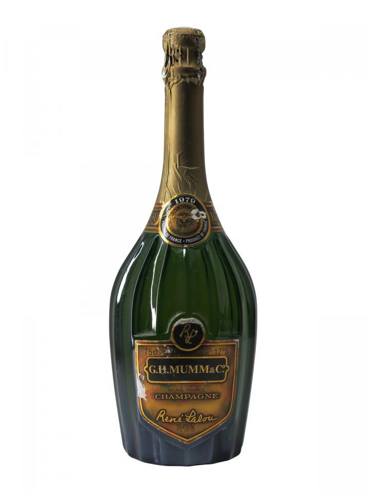 Champagne G.H Mumm René Lalou Brut 1979 Bottle (75cl)