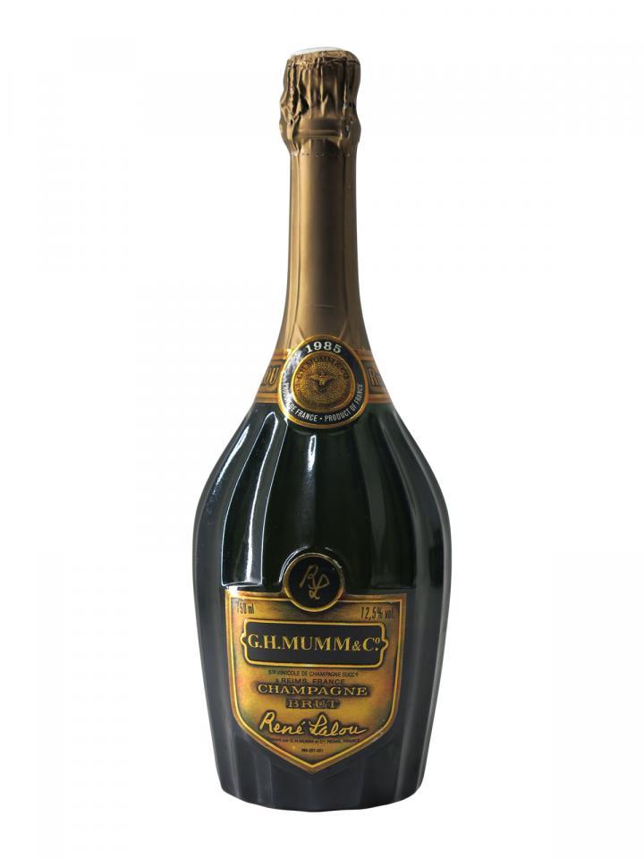 Champagne G.H Mumm René Lalou Brut 1985 Bottle (75cl)