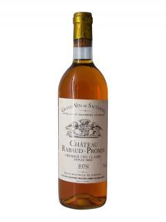 Château Rabaud-Promis 1978 Bottle (75cl)