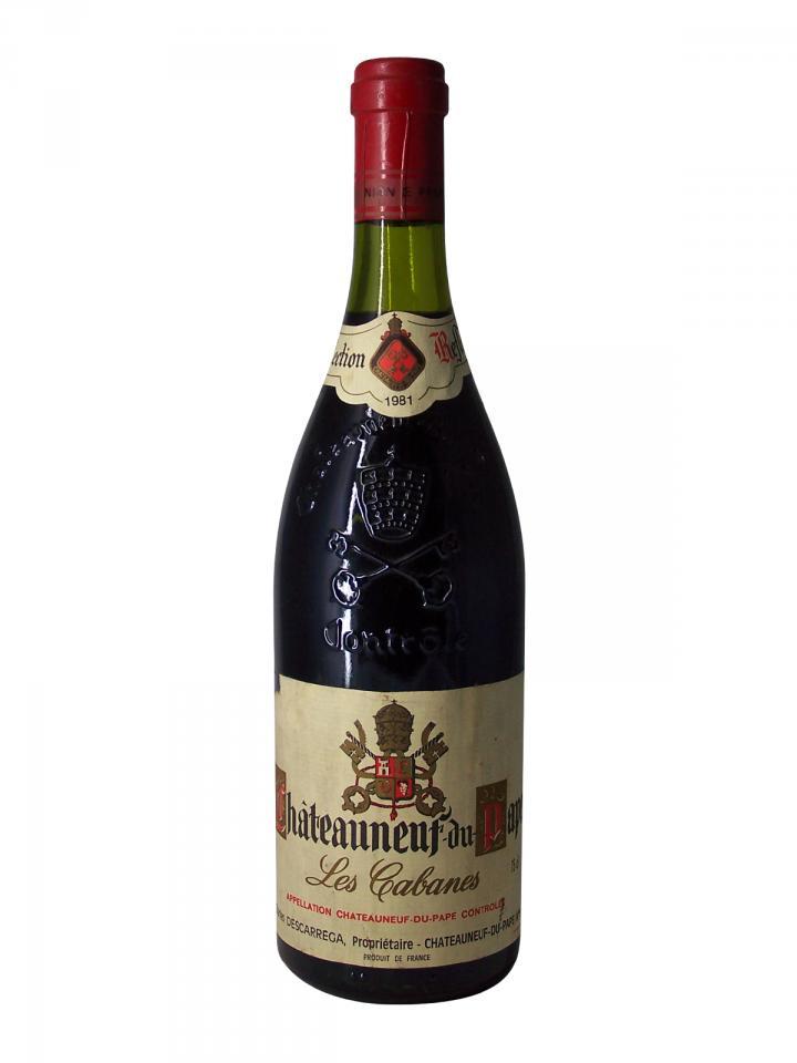 Chateauneuf-du-Pape Charles Descarréga Les Cabanes 1981 Bottle (75cl)