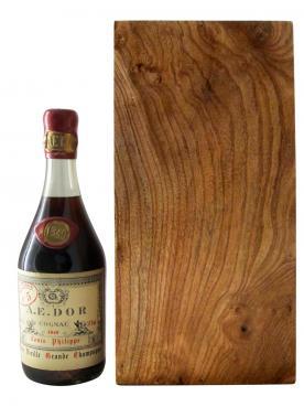 Cognac Très Vieille Grande Champagne Louis Philippe A.E. DOR 1840 Caisse bois d'origine d'une bouteille (70cl)