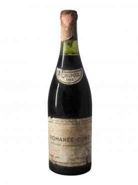 Romanée-Conti Grand Cru Domaine de la Romanée-Conti 1952 Bottle (75cl)