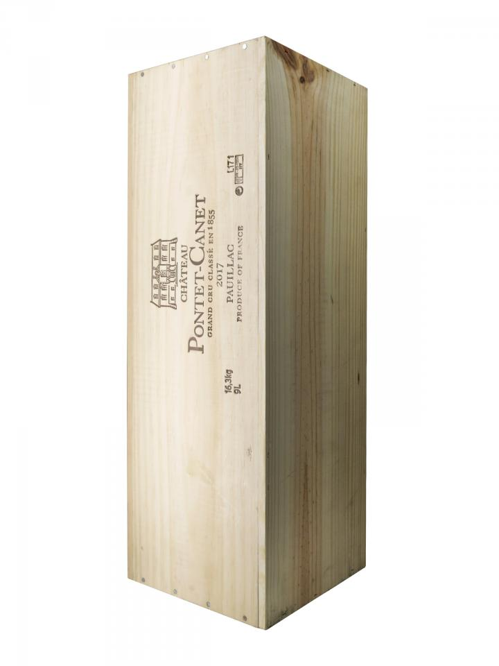 Château Pontet-Canet 2017 Original wooden case of one salmanazar (1x900cl)