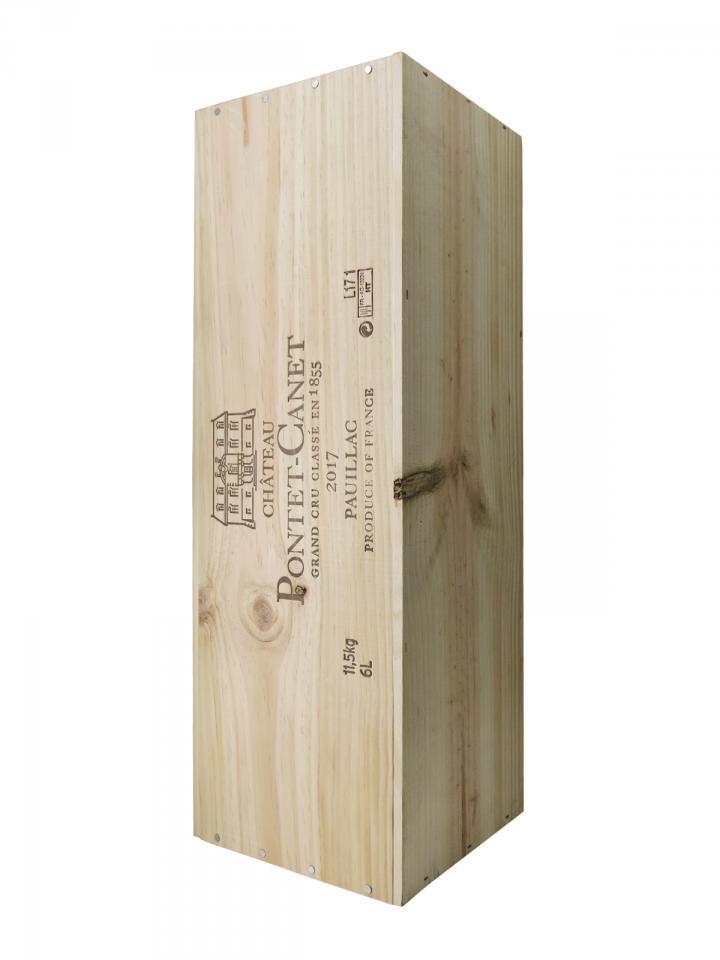 Château Pontet-Canet 2017 Original wooden case of one impériale (1x600cl)