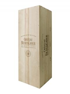 Château Beauséjour Duffau Lagarrosse 2017 Original wooden case of one impériale (1x600cl)