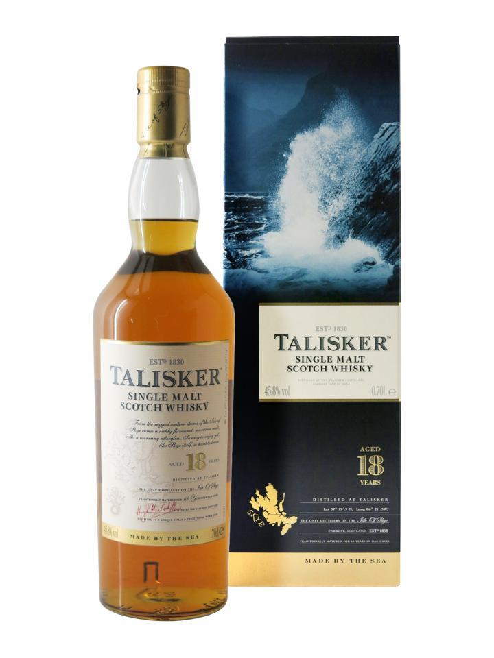 Whisky 18 years Talisker Non vintage Coffret d'une bouteille (70cl)