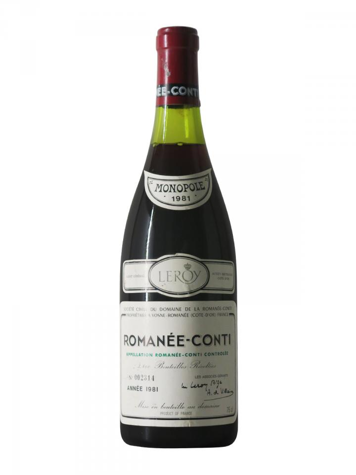 Romanée-Conti Grand Cru Domaine de la Romanée-Conti 1981 Bottle (75cl)