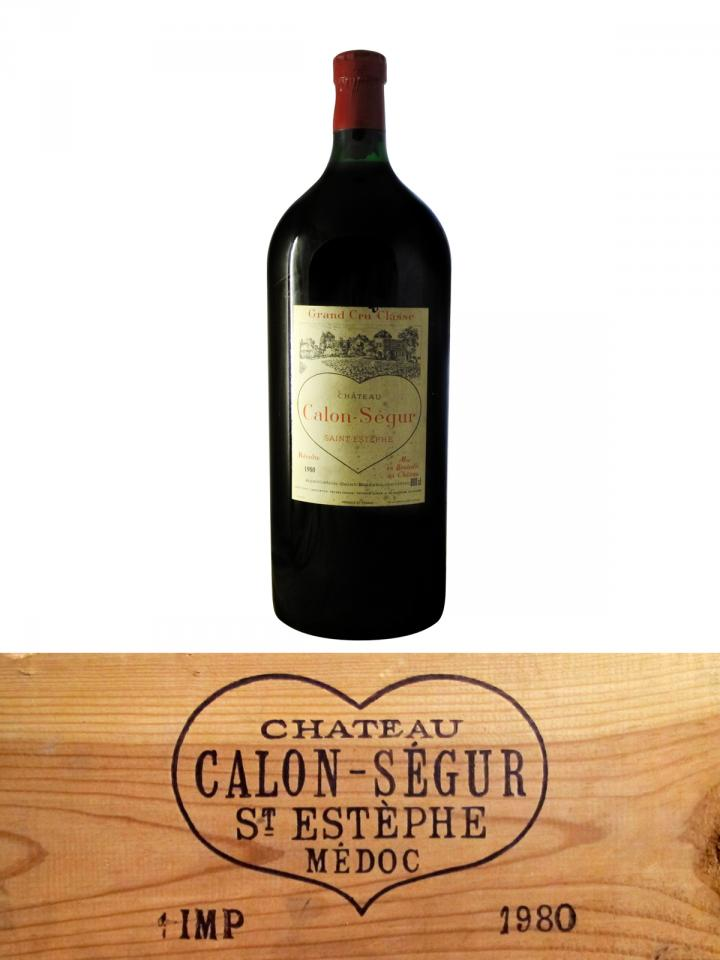 Château Calon-Ségur 1980 Original wooden case of one impériale (1x600cl)