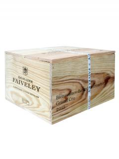 Bienvenues Bâtard-Montrachet Grand Cru Domaine Faiveley 2012 Original wooden case of 6 bottles (6x75cl)