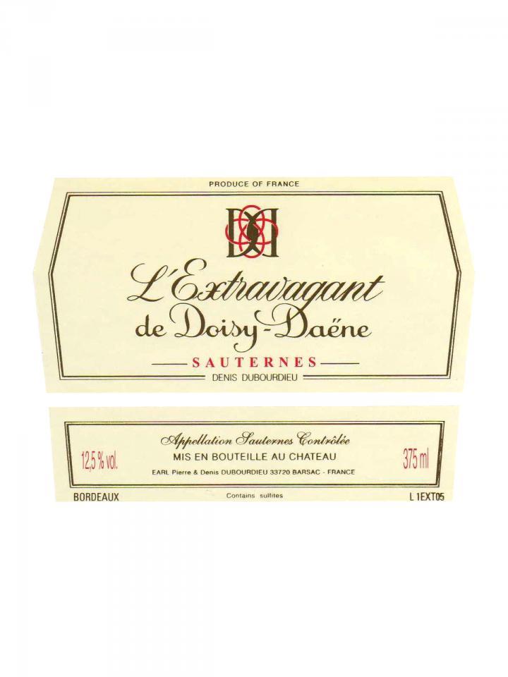 Château Doisy-Daëne L'Extravagant de Doisy-Daene 2009 Original wooden case of 12 half bottles (12x37.5cl)