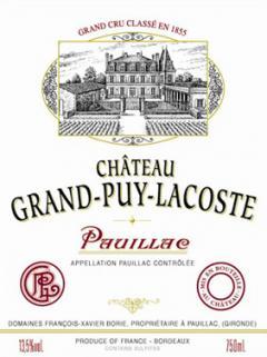 Château Grand-Puy-Lacoste 1996 Original wooden case of 12 bottles (12x75cl)