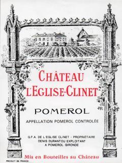 Château l'Eglise-Clinet 2010 Original wooden case of 6 bottles (6x75cl)